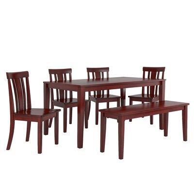 Alverson 6 Piece Dining Set Color: Berry Red
