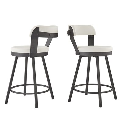 Craighead 5 Piece Counter Height Dining Set Chair Color: White