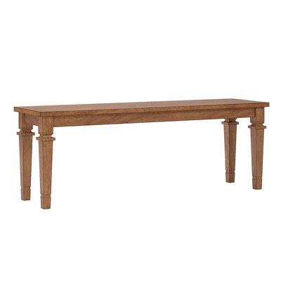 Dykstra Wood Bench Color: Oak