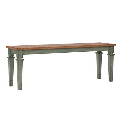 Dykstra Wood Bench Color: Dark Sea Green