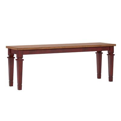 Dykstra Wood Bench Color: Berry Red
