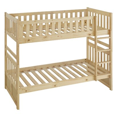 Castagna Bunk Bed Size: Twin, Frame Color: Natural