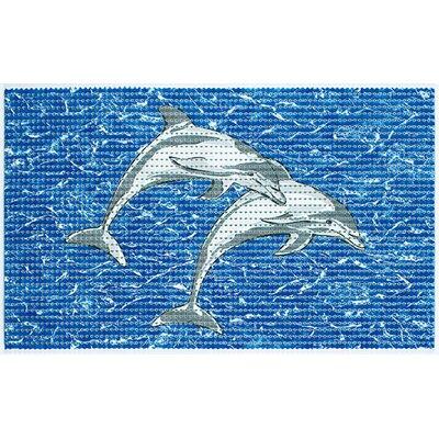 Friedola Softy Pearl 2 Piece Dolphin Cushioned Bath Mat Set