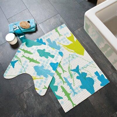 Friedola Softy Pearl 2 Piece Marina Cushioned Bath Mat Set
