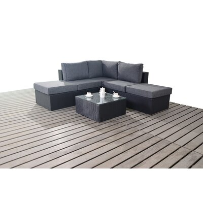 Port Royal Prestige 4 Seater Sectional Sofa Set with Cushions