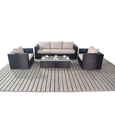 Port Royal Luxe 5 Seater Sofa Set with Cushions