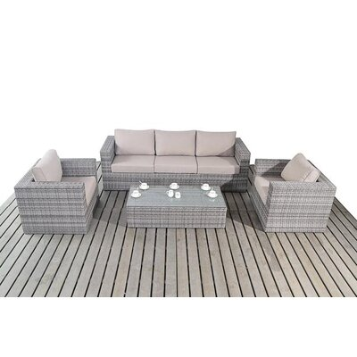 Port Royal 5 Seater Sofa Set with Cushions