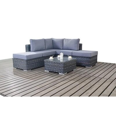 Port Royal 4 Seater Sectional Sofa Set with Cushions