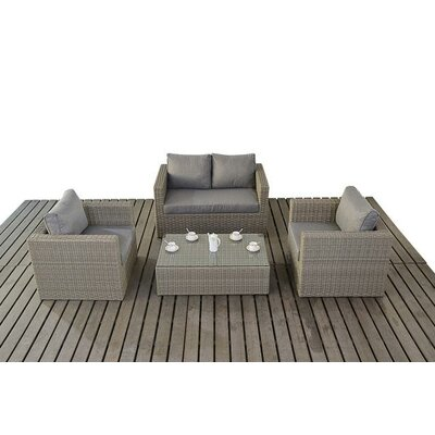 Port Royal 4 Seater Sofa Set with Cushions