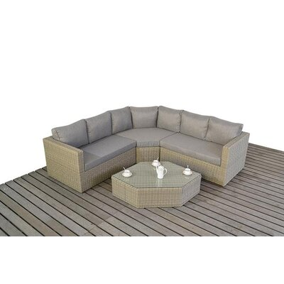 Port Royal 5 Seater Sectional Sofa Set with Cushions