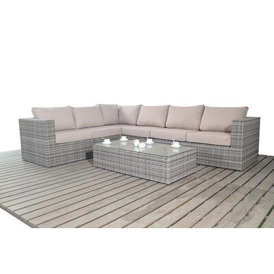 Port Royal 6 Seater Sectional Sofa Set with Cushions