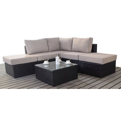 Port Royal Luxe 4 Seater Sectional Sofa Set with Cushions