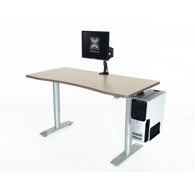"""Vox Height Adjustable Training Table Tabletop Finish: Living Teak, Size: 24"""" H x 60"""" W x 24"""" D"""