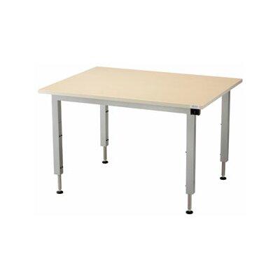 "48'' W Infinity Height Adjustable Training Table Size: 24"" H x 48"" W x 36"" D, Tabletop Finish: Urban Walnut"