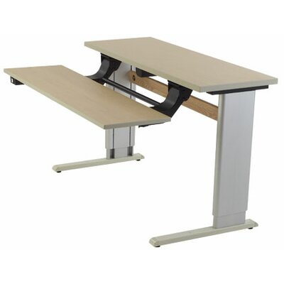 """Infinity Height Adjustable Training Table Size: 24"""" H x 60"""" W x 30"""" D, Tabletop Finish: Digital Storm"""
