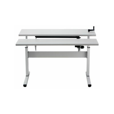 """Equity Height Adjustable Training Table Tabletop Finish: Dove Gray, Size: 24"""" H x 60"""" W x 16"""" D"""