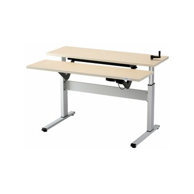 """Equity Height Adjustable Training Table Size: 24"""" H x 48"""" W x 16"""" D, Tabletop Finish: Urban Walnut"""