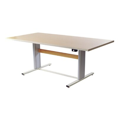 "72"" W Infinity Height Adjustable Training Table Tabletop Finish: Living Teak"
