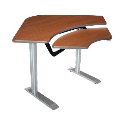 59'' W Vox Height Adjustable Training Table Tabletop Finish: Urban Walnut