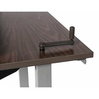 """Equity Utility Height Adjustable Training Table Size: 38"""" H x 48"""" W x 24"""" D, Tabletop Finish: Urban Walnut"""