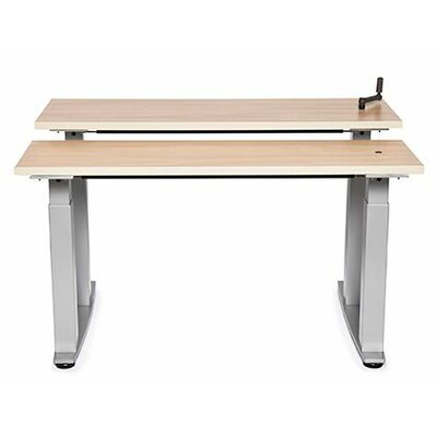 """Equity Bi-Level Height Adjustable Computer Table Size: 38"""" H x 48"""" W x 30"""" D, Tabletop Finish: Dove Gray"""
