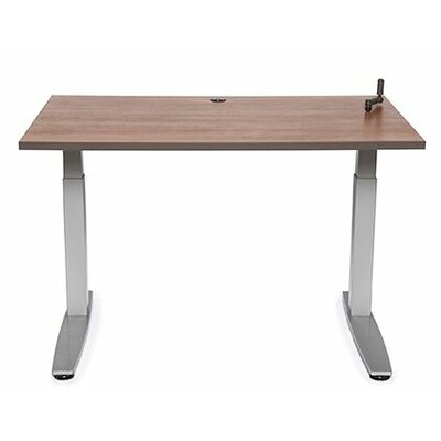 "Equity Utility Height Adjustable Training Table Tabletop Finish: Living Teak, Size: 38"" H x 60"" W x 30"" D"