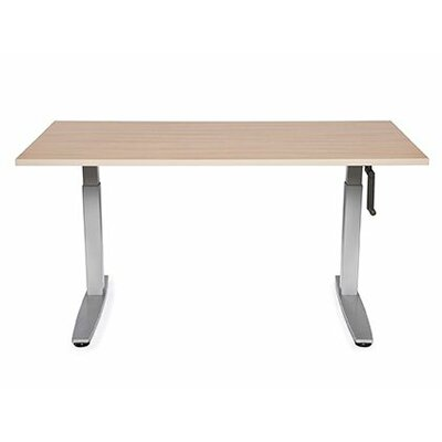 """Equity Height Adjustable Training Table Size: 38"""" H x 36"""" W x 24"""" D, Tabletop Finish: American Maple"""