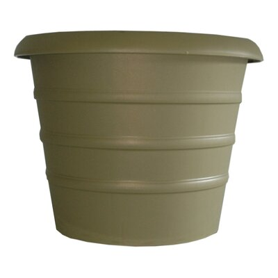 "Marina Plastic Pot Planter (Set of 4) Color: Slate Green, Size: 13.8"" H x 16"" W x 16"" D"