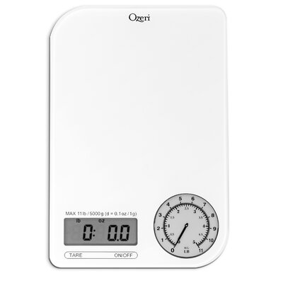Rev Digital Kitchen Scale with Electro-Mechanical Weight Dial Color: Gray Dial