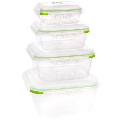 Instavac Green Earth Vacuum Sealed Locking 8 Container Food Storage Set