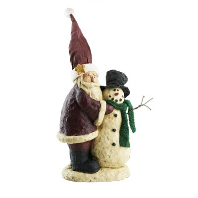 Santa Building Snowman Collectible Figurine