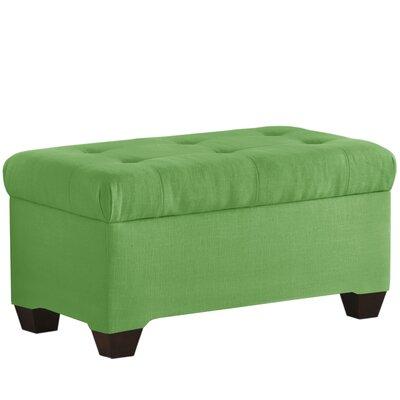 Fabric Storage Bench Body Fabric: Linen Kelly Green