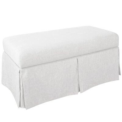 Storage Bench Body Fabric: Duck White