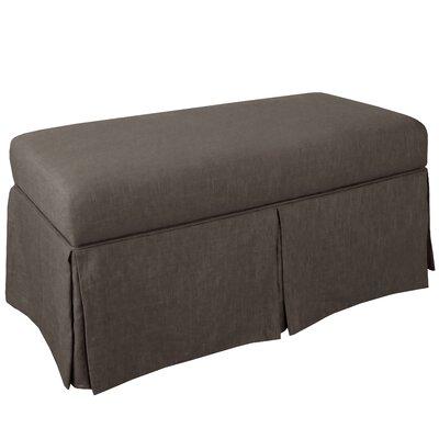 Storage Bench Body Fabric: Linen Cindersmoke