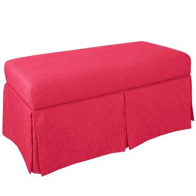 Storage Bench Body Fabric: Linen Fuchsia