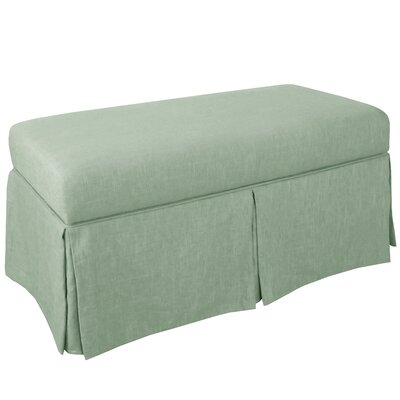 Storage Bench Body Fabric: Linen Swedish Blue