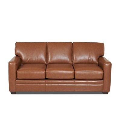 Carleton Leather Sofa Body Fabric: Vintage Flint
