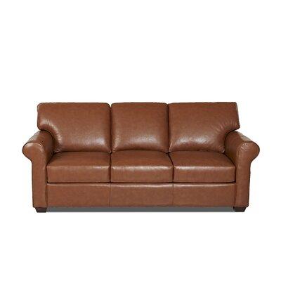 Rachel Leather Sofa Body Fabric: Durango Acorn