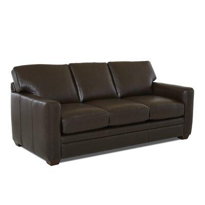 Carleton Leather Sofa Body Fabric: Durango Espresso