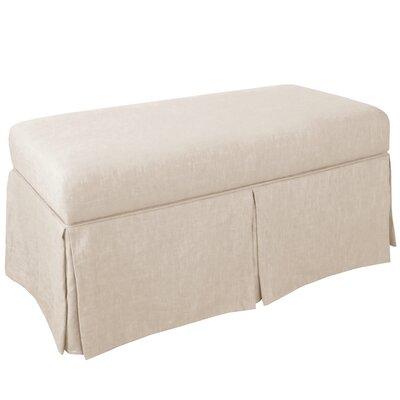 Storage Bench Body Fabric: Linen Talc
