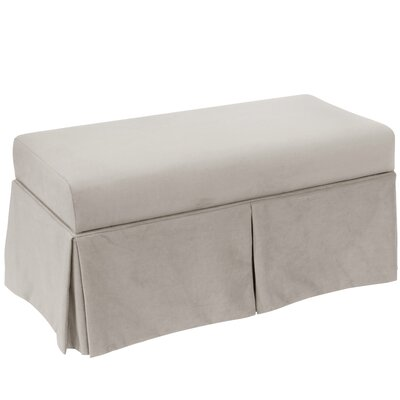 Storage Bench Body Fabric: Velvet Light Grey