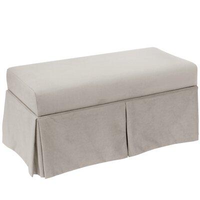 Storage Bench Body Fabric: Velvet Light Grey