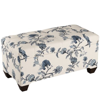 Fabric Storage Bench Body Fabric: Shaana Indigo