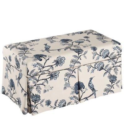 Storage Bench Body Fabric: Shaana Indigo