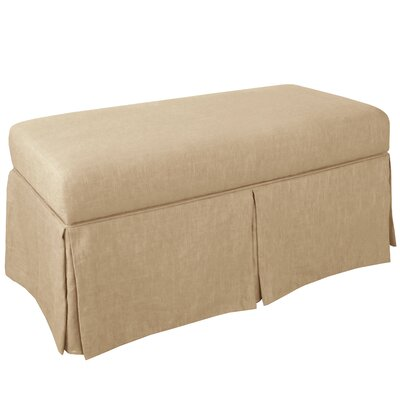 Storage Bench Body Fabric: Linen Sandstone
