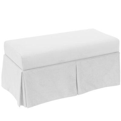 Storage Bench Body Fabric: Velvet White