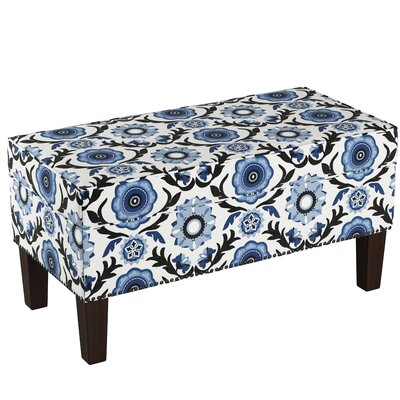Macie Upholstered Storage Bench Body Fabric: Tulum Blue