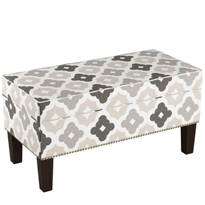 Macie Upholstered Storage Bench Body Fabric: Sintra Taupe