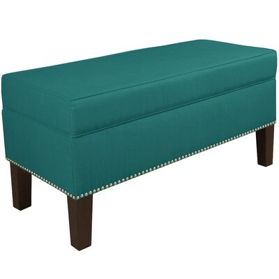 Macie Upholstered Storage Bench Body Fabric: Linen Laguna
