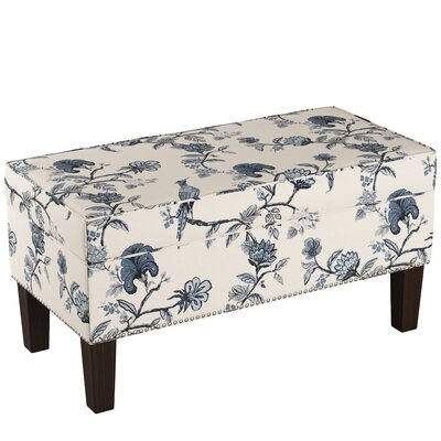 Macie Upholstered Storage Bench Body Fabric: Shaana Indigo